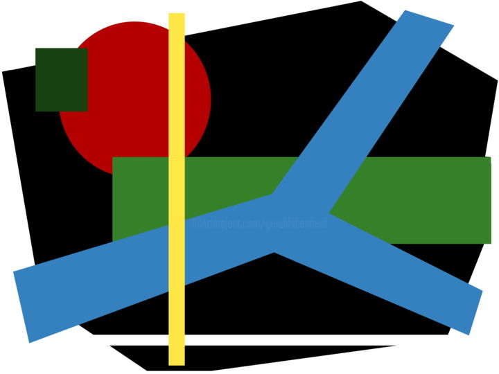 Gerald Shepherd - Frameless Abstract